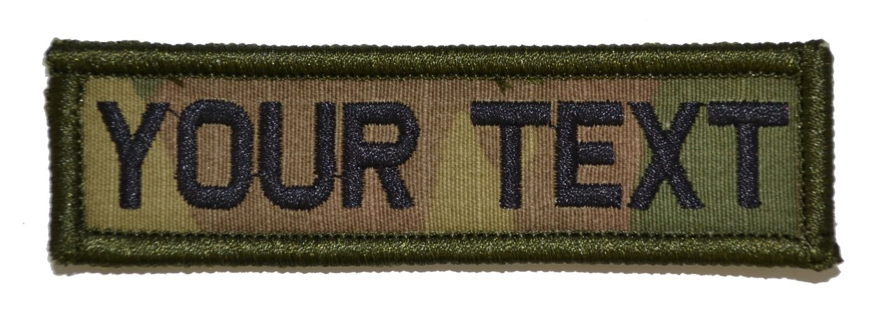 Olive Drab OD Customizable Text 1x3 Patch w//Hook Fastener Morale Patch