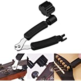 Ruix Premium 3-In-1 Multifunctional Guitar String Winder and Cutter/String Pin Puller All-In-One For Any Electric & Acoustic String Instrument