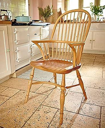 Englisch Windsor Stick Back Doppelte Schleife Arm Stuhl: Hergestellt In  England: Ein Klassiker, Hervorragende Qualität, Englisch Stuhl Made In  Massivem Ash: ...
