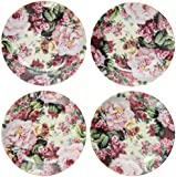 English Rose Pattern Fine China Cup Cake Plates for Children's Tea Parties