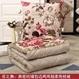 HOMEE Winter Thick Duvet Pillow Cushion with Two Cars on the Office of the Sofa Pillows, Air Conditioning by Small Blankets ,4545, Wave Point,Dance,4040