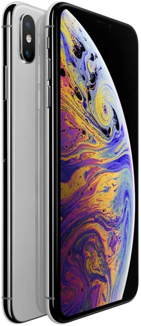 Apple Iphone XS Max, 512GB, Silver - Fully Unlocked (Renewed)