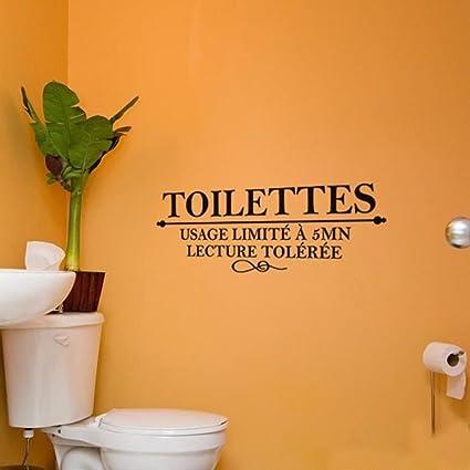 Topker Toilettes Spanish Inspiring Quotes Sticker Mural Décoration