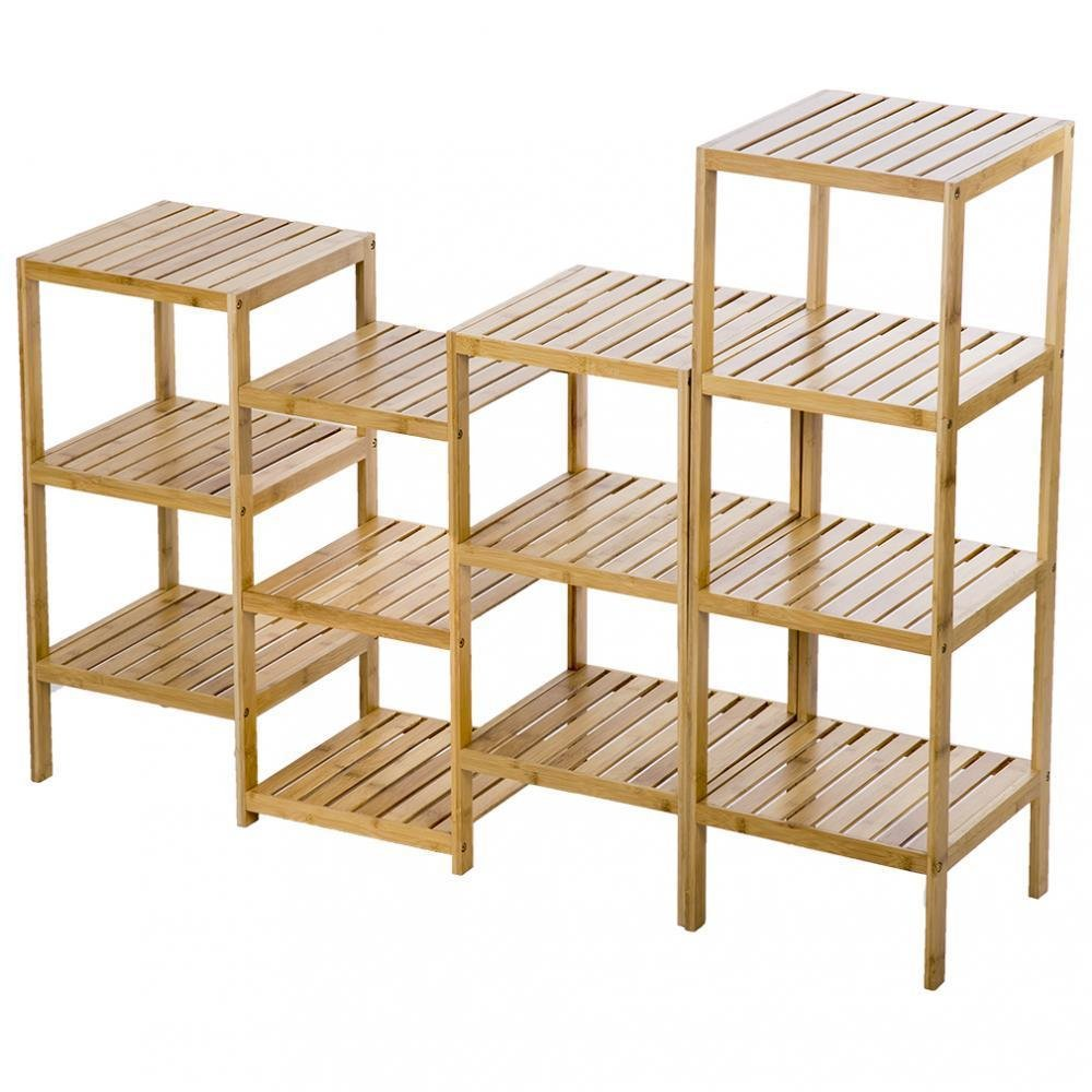 Bamboo Storage Shelf Rack Plant Display Stand 13-Tier Rack Unit + FREE E-Book by Eight24hours