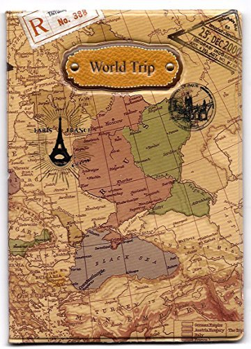 Skylly World Map 3D Passport Cover ~ NO more bent corners while Traveling ~...