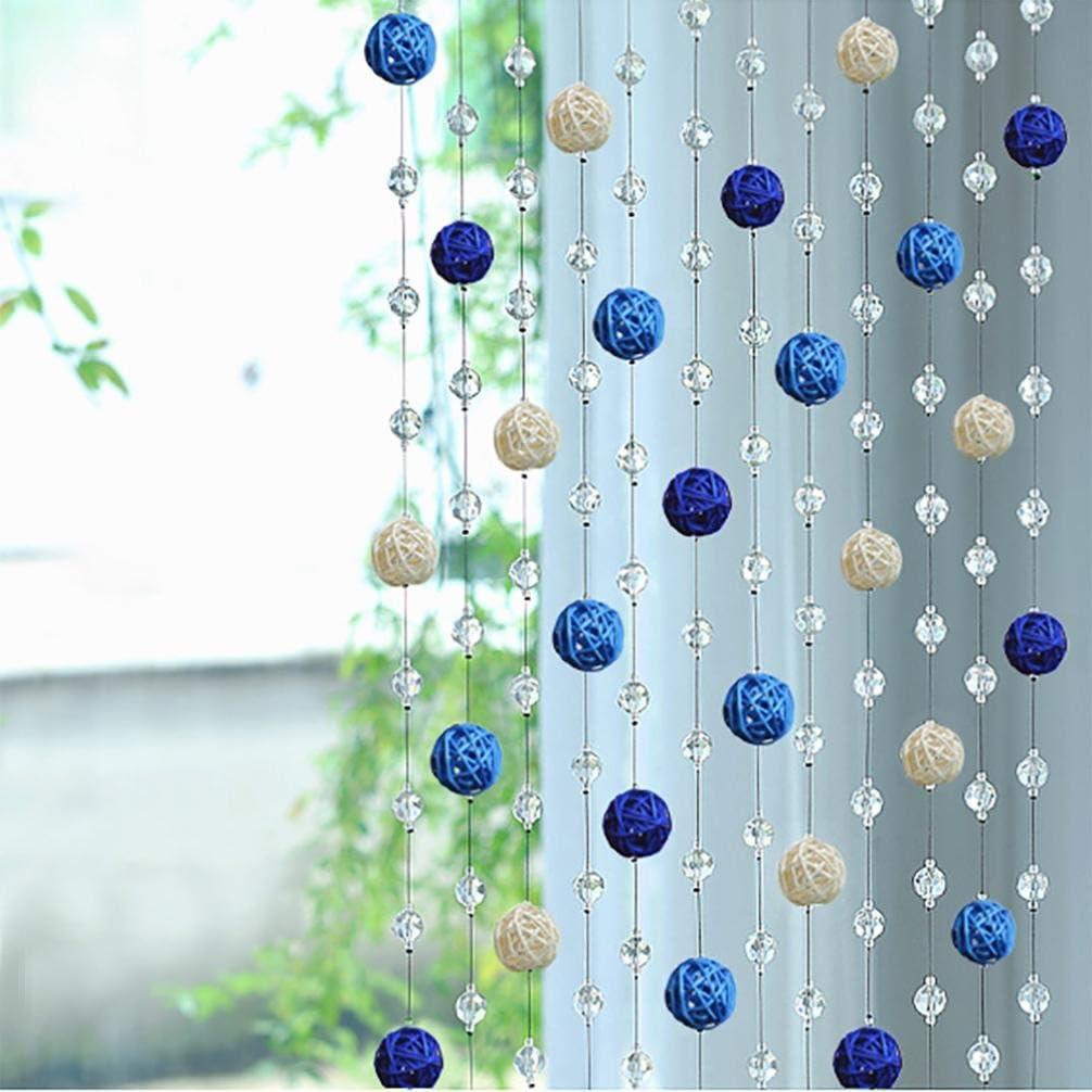 C 1pcs Crystal Glass Bead,squarex Sepak Takraw Bead Crystal GlassCurtain Living Room Bedroom Window Door Decor