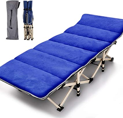 Folding Camping Bed Outdoor Portable Military Cot Double Layer Oxford Strong Heavy Duty Wide Sleeping Cots with Carry Bag for Indoor /& Outdoor Use NAIZEA Folding Cot Camping Cot