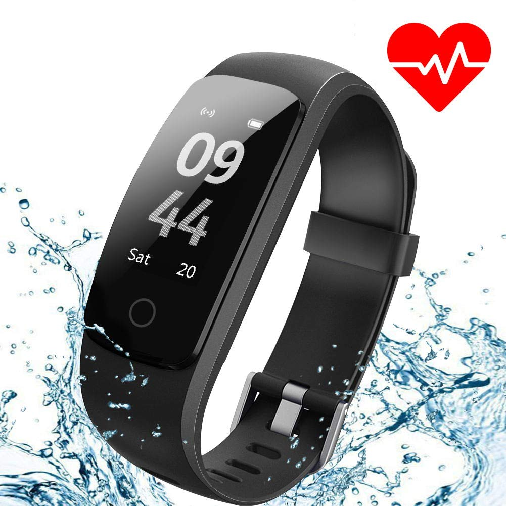 Aneken Fitness Tracker Watch Activity Tracker Heart Rate Monitor Waterproof IP67 Sleep Monitor Gym Wristband Pedometer for Women Kids and Men SMS SNS Facebook Twitter Skype Vibrating Reminder product image