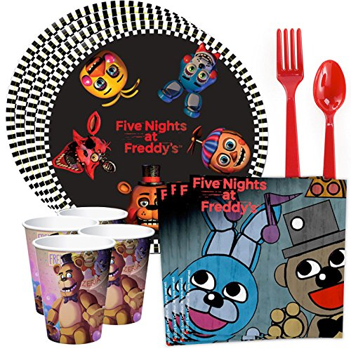Costume SuperCenter Five Nights at Freddy's Standard Tableware Kit (Serves 8) -