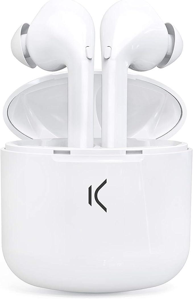 Ksix True Buds Bluetooth Headset Mit Mikrofon Weiß Elektronik