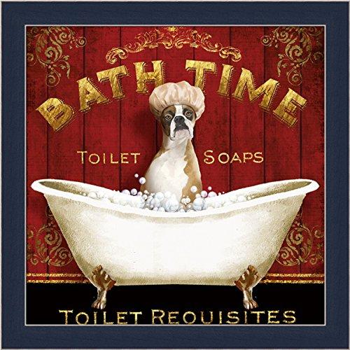 Bath Time Conrad Knutsen Boxer Shower Cap Framed Print Wa...