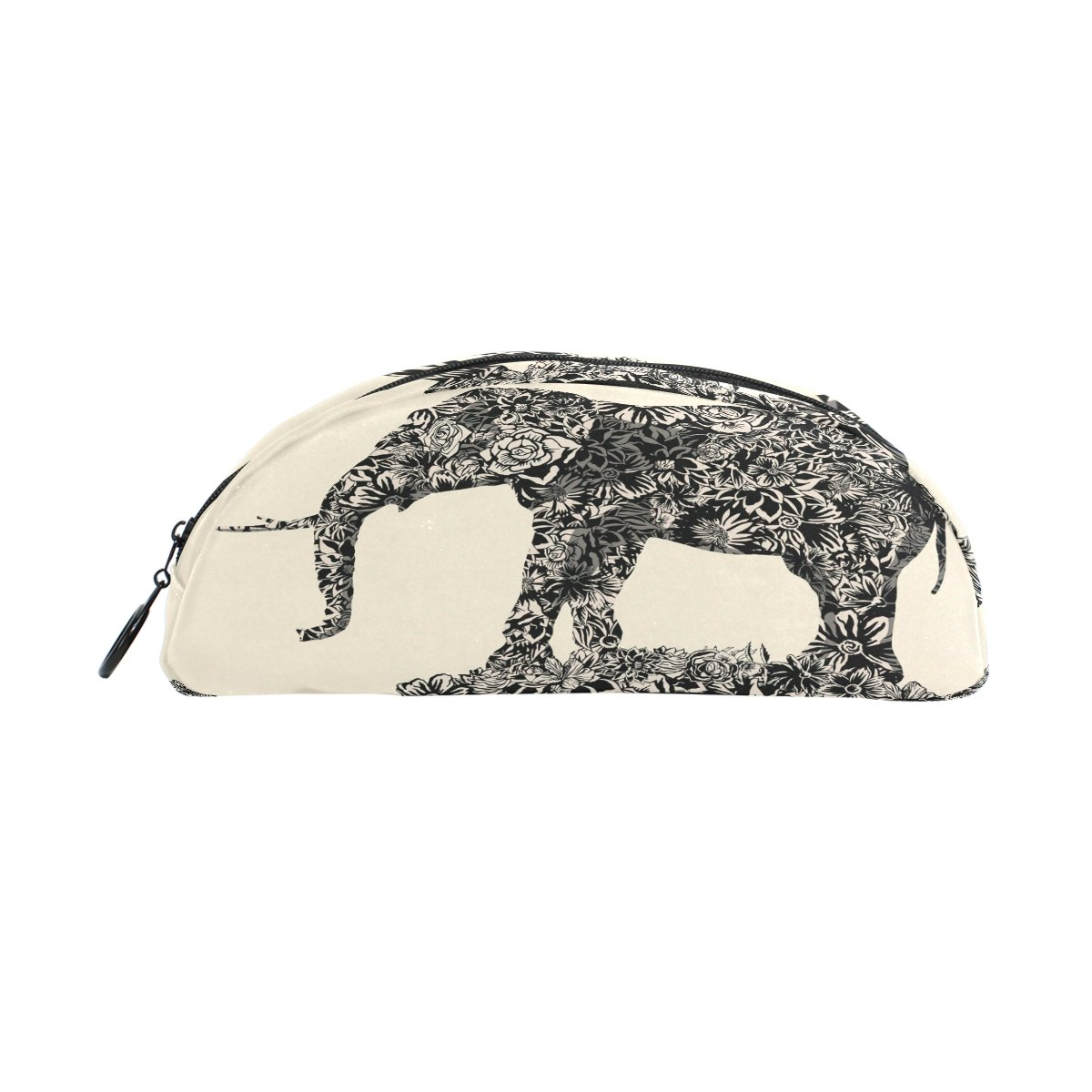 Zzkko Fleur éléphant rétro Fermeture Éclair Stylo Trousse Sac pochette pour enfants filles garçons adolescents adultes