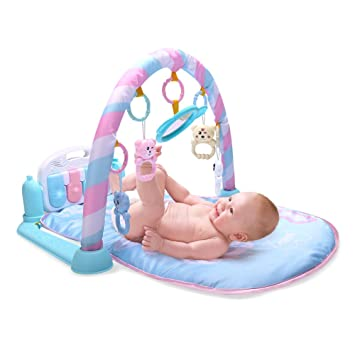 3 In 1 Multifunctional Baby Infant Activity Gym Play Mat Musical W//Hanging Toys