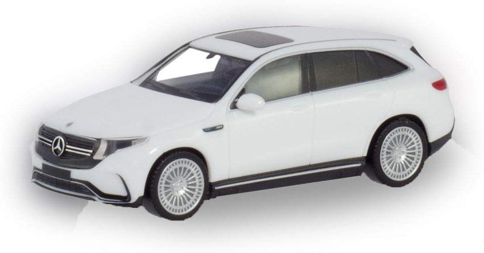herpa 420426-002 Mercedes-Benz EQC AMG schwarz in Miniatur zum Basteln Sammeln und als Geschenk black craft collection and as a gift
