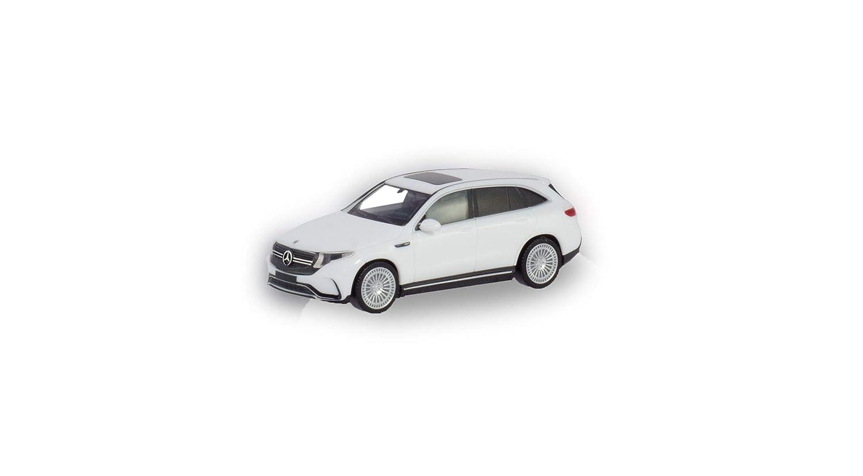 Herpa 420426 Mercedes-Benz EQC AMG polarwei/ß erstes Elektro-SUV Fahrzeug in Mini zum Basteln und Sammeln Mehrfarbig