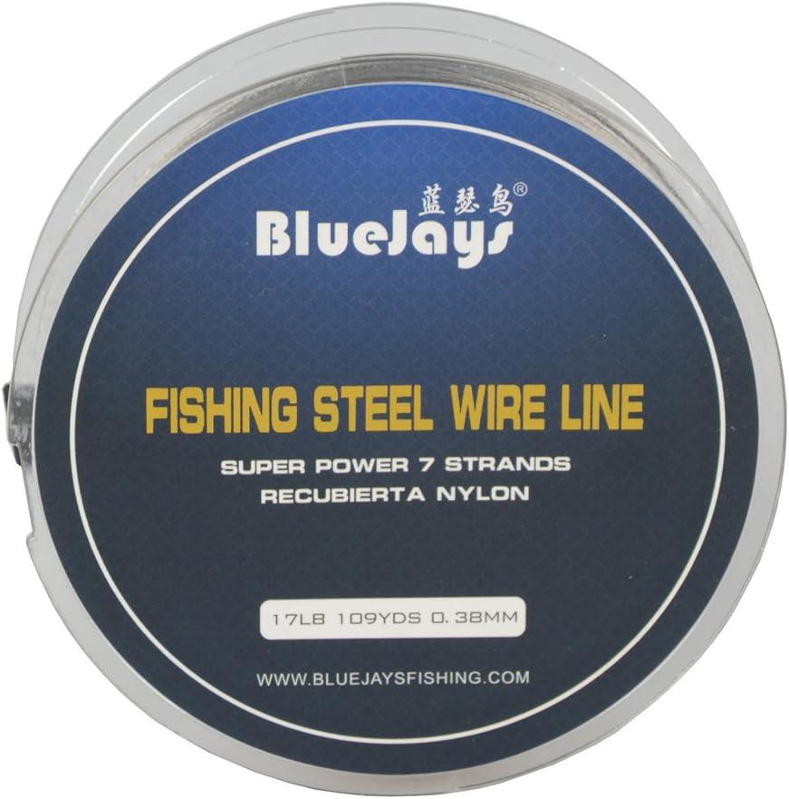 Bluejays 100/m Angeln Stahl Draht Linien Angeln Draht Nylon beschichtet 1/x 7/Str/ähnen Edelstahl Leader Draht