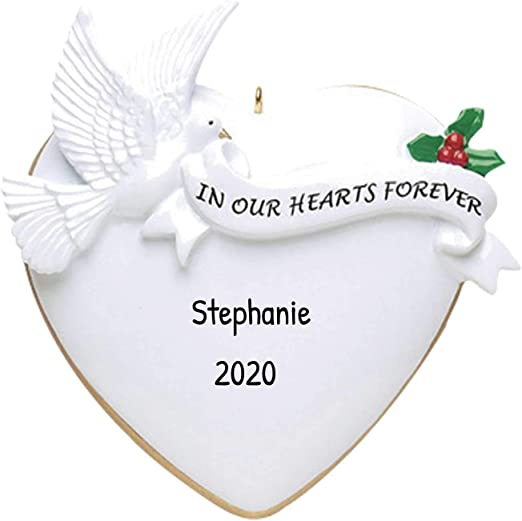 Forever Religious Christmas Stamps 2020 Amazon.com: Personalized Our Heart Forever Christmas Tree Ornament