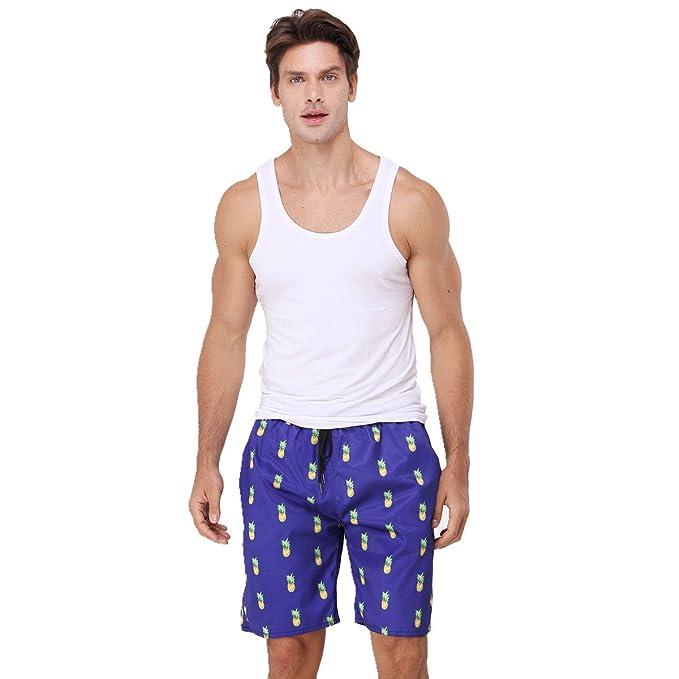 Pantalones Para Youvimi Cortos Hombre De Playa Rayas Estampados A 5AL3Rj4