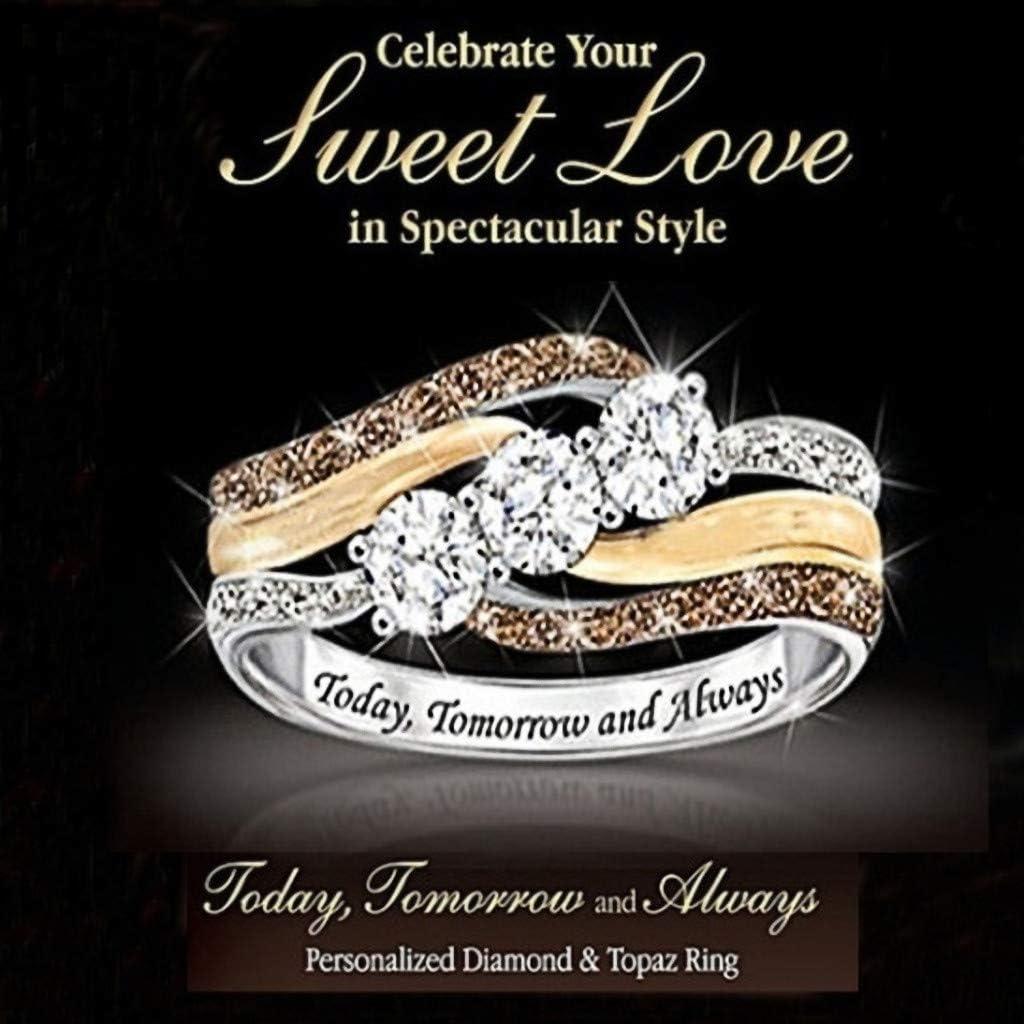 /Él/éphant De La Saint-Valentin//Mignon Abeille Anneau Animaux Femmes F/êTe De Mariage Bijoux Diamant Bague /éTernit/é Bandes Taille 5-10