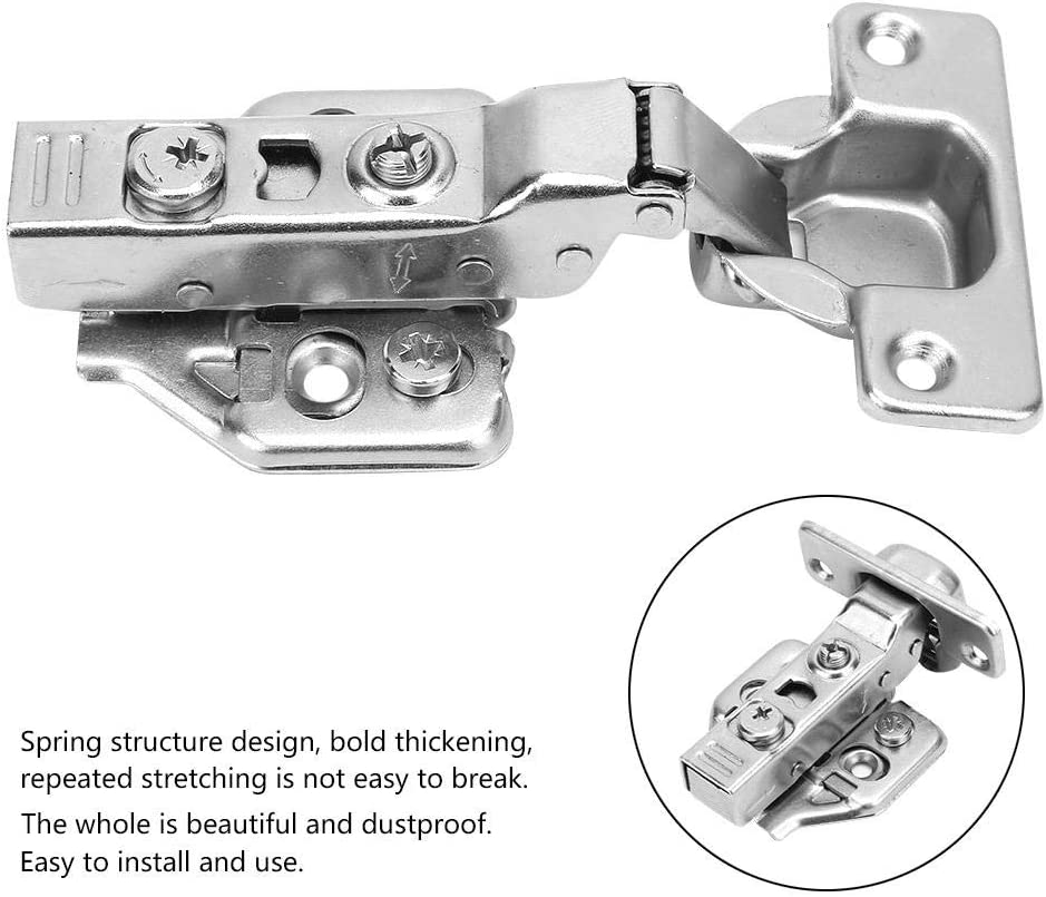 4 Pcs Iron Plated Door Hinges Kitchen Cabinet Folding Soft Close Furniture Concealed Combination Wardrobe Door Hinges Straight