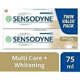 Sensodyne Multicare + Whitening Toothpaste, Value Pack (2 x 75ml)