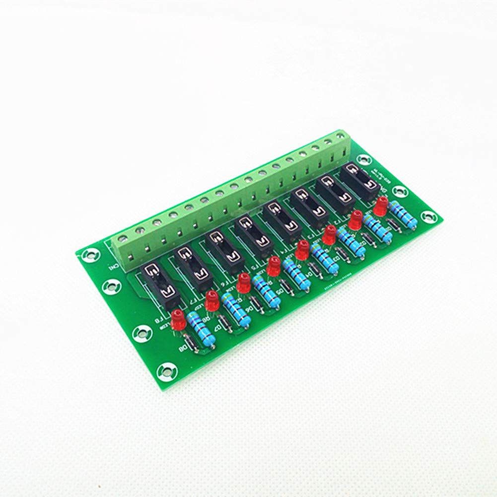 Fuse Module,8 Channel Fuse Panel Mount Power Distribution Module Board.