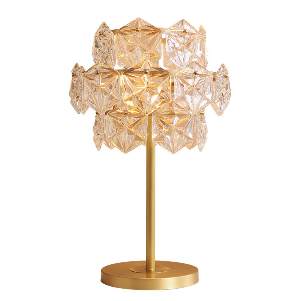 Crystal Table Lamp Snowflake Decoration Copper Lamp