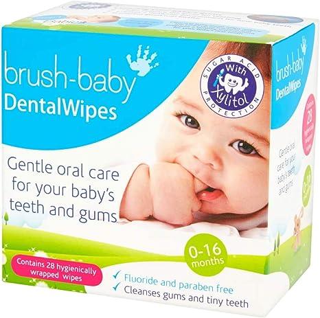 Toallitas dentales Brush-Baby para bebés | Nacimiento - Primeros ...