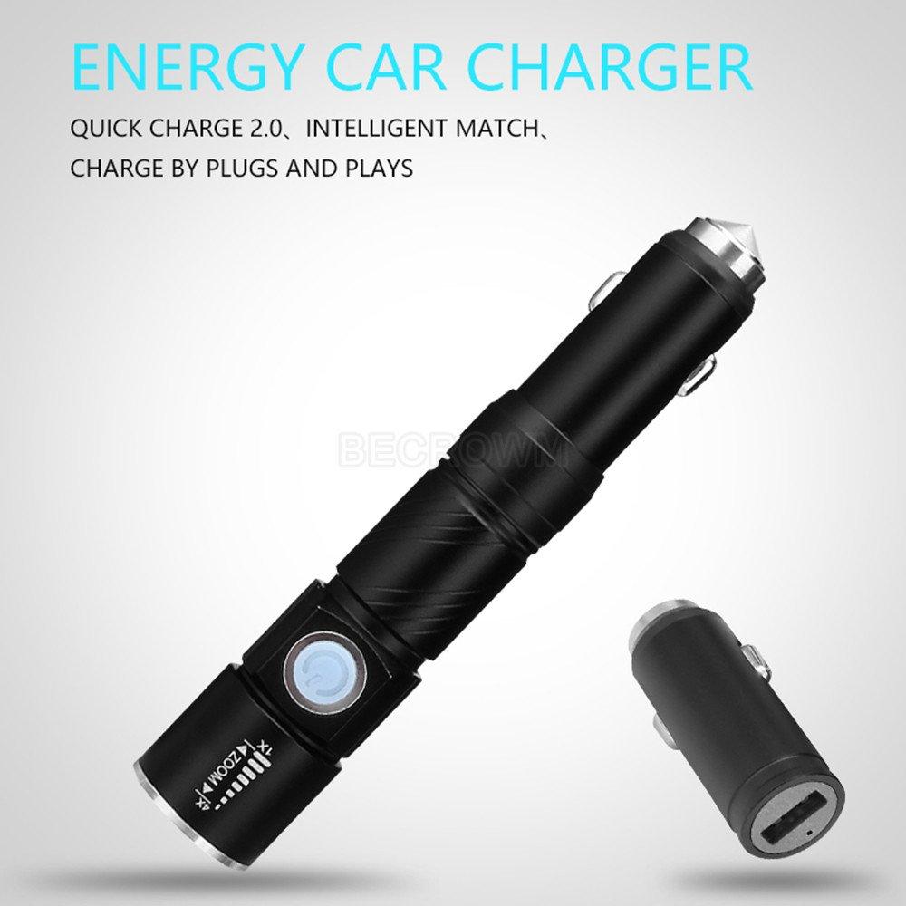 Autoxscape voiture durgence Outil multifonction BECROWMEU Portable Mini lampe