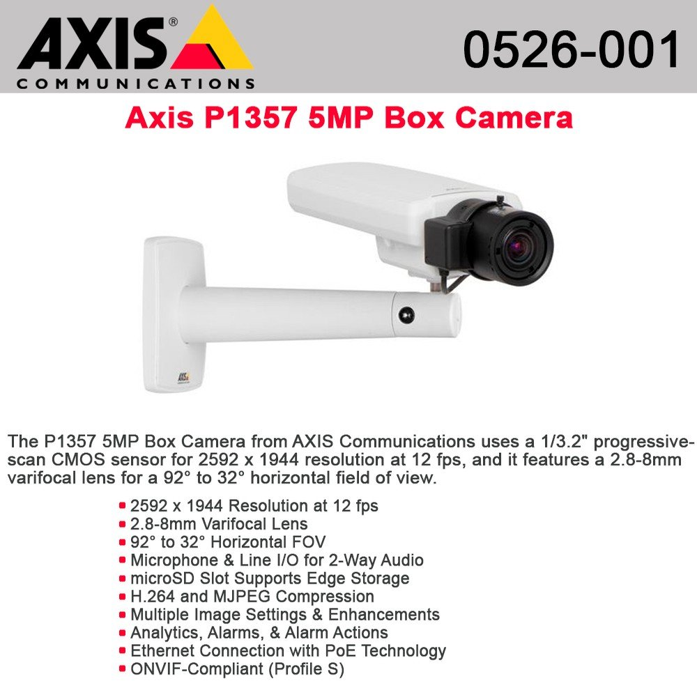 AXIS P1357 Network Camera - Network camera - color ( Day&Night ) - 5 MP - 2592 x 1944