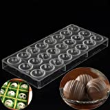 Grainrainポリカーボネートチョコレート金型金型DIY製菓道具ハンドメイドセミクリア球Shaped