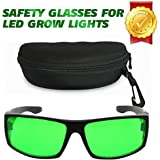 Derlights Indoor Grow Light Glasses, Anti UV, Color Correction, Protective Goggles for Intense LED Lighting Visual in Grow Room & Greenhouse