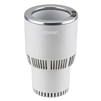senains portátil 12 V DC bebidas enfriador y calentador taza soporte para coche, hogar,