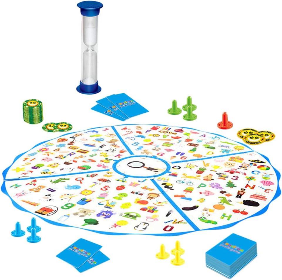 Toyvian 1 Juego Pequeño Detective Mapa Juegos de Mesa para niños Puzzle Juguetes Observe la reacción Juego Interactivo de la Fuerza: Amazon.es: Juguetes y juegos