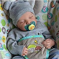 AniYY 19 inch Realistische Pop Gesloten Ogen Slaap Jongen Zachte Vinyl Siliconen Baby Leuke Pasgeboren Speelgoed Gift…