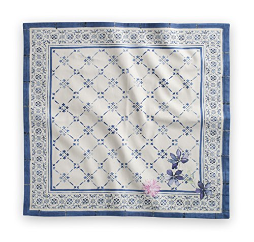Maison d' Hermine Faïence 100% Cotton Set of 4 Napkins, 20-Inch by (4 Piece Blue Table Napkins)