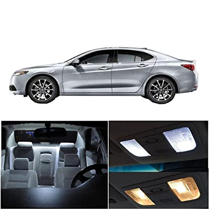 CCIYU LED Interior Light Accessories Replacement Package Kit 9 Pack White  For Acura TLX 2015