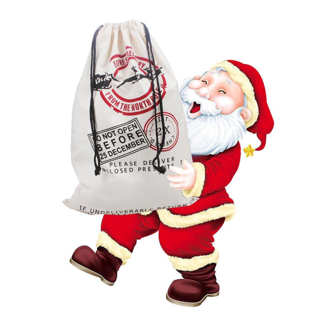 Extra große Weihnachtssack Santa Säcke mit Kordelzug für ...