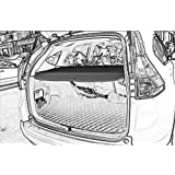 Cargo Security Rear Trunk Cover Retractable For 12-16 Honda Crv Cargo Cover Black by Kaungka