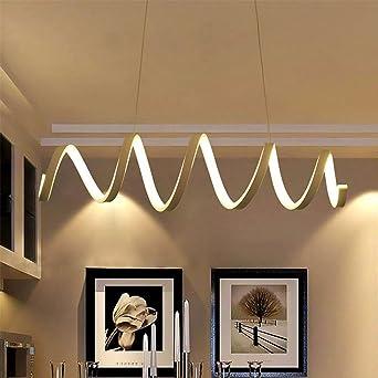 ZQQ Moderne LED Acryl Spirale Deckenleuchte Kronleuchter Für Schlafzimmer  Restaurant , A , 39.37 Inch