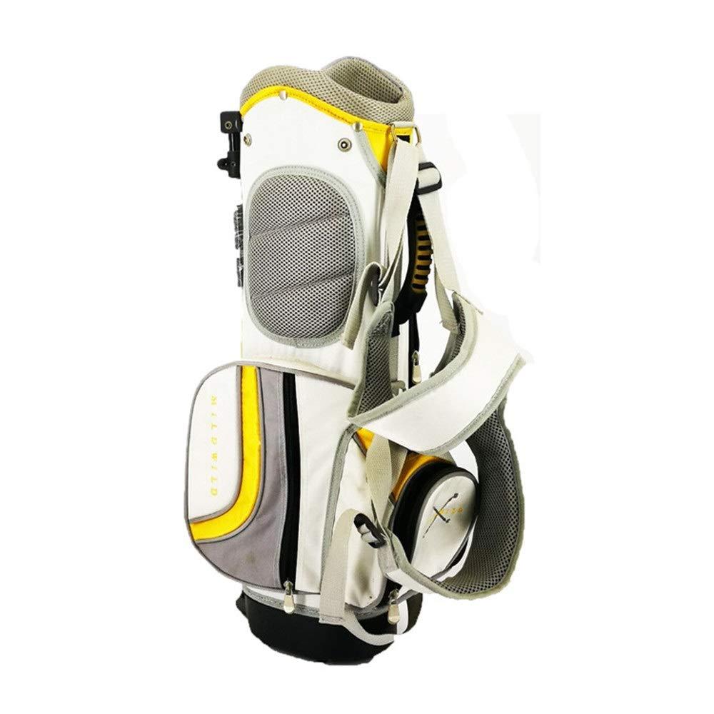 超軽量 大容量 ゴルフ クラブ ケース 子供用スタンドバッグゴルフバッグポリエステルゴルフ用スタンドバッグ防水ゴルフキャリーバッグ大人用ゴルフアクセサリースポーツ乗馬用ハイブリッドウォーキングゴルフバッグ (色 : 黄, サイズ : ワンサイズ) B07SPJBXYS 黄 ワンサイズ