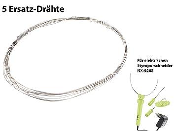 AGT Zubehör zu Styroporschneider: 5 Ersatz-Drähte für ES-300, 100 cm ...