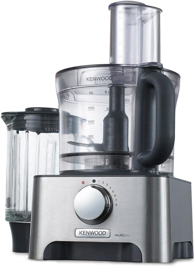 Kenwood MultiproClassic - Procesador de alimentos familiar, 1000 W, 3 litros, velocidad variable, color metal