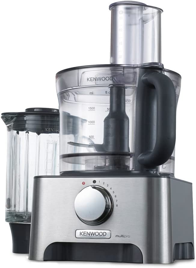 Kenwood MultiproClassic - Procesador de alimentos familiar, 1000 W, 3 litros, velocidad variable, color metal: Amazon.es: Hogar