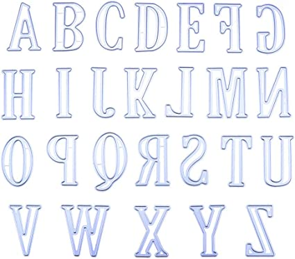 For Cards Scrapbooking Décor Hand Lettered Lowercase Alphabet Cutting Dies