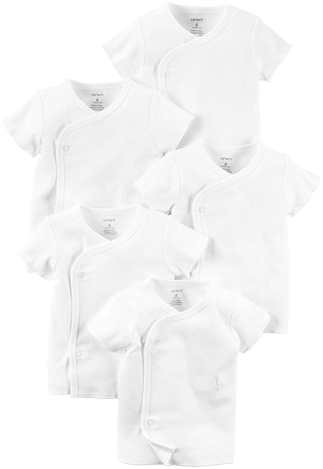 Carter's Unisex Baby 5-Pack Side-Snap T-Shirts Carter's