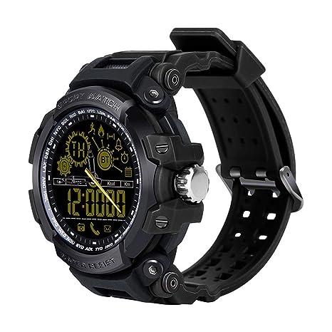 Sisaki Smartwatch Pulsera Actividad Bluetooth Fitness Trackers Reloj Inteligente con cronómetro podómetro para Hombre Mujer teléfonos