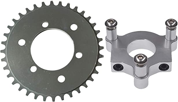 "1.5/"" Silver CNC Adapter 38T Sprocket Fit  415 Chain 66cc 80cc Motorized Bike"
