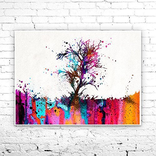 Amazon Com Tree Watercolor Painting Art Print Watercolor