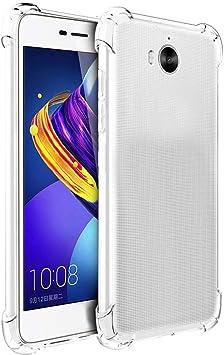 ELECTRÓNICA REY Funda Anti-Shock Gel Transparente para Huawei Y6 ...
